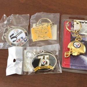 NFL Steelers Keychains NEW 4